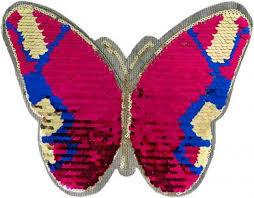 Applikation Schmetterling Pailletten