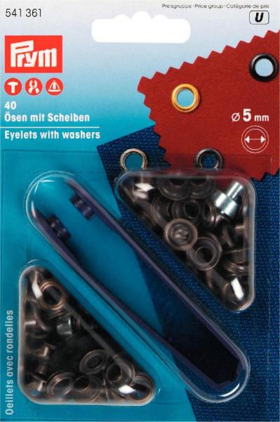 Ösen und Scheiben 5 mm altmessing