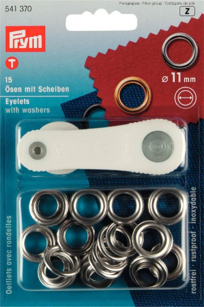 Ösen und Scheiben 11 mm silberfarbig