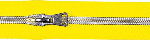 Spiralreißverschluss inkl. Schieber gelb