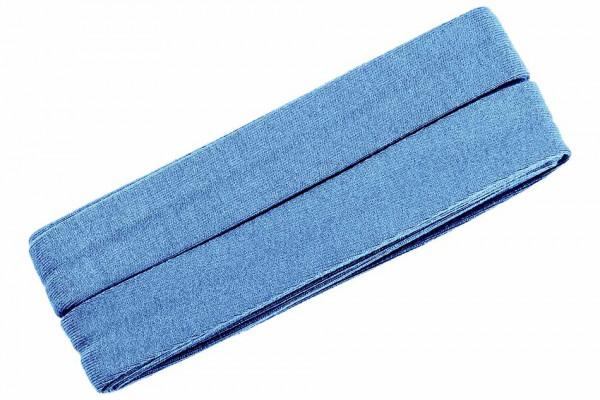 Jersey-Schrägband 20 mm jeansblau