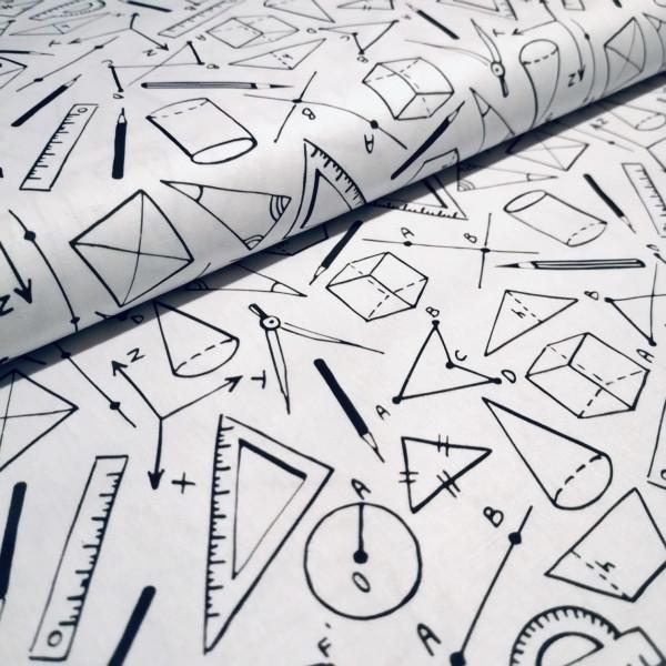 Baumwollstoff Geometrie