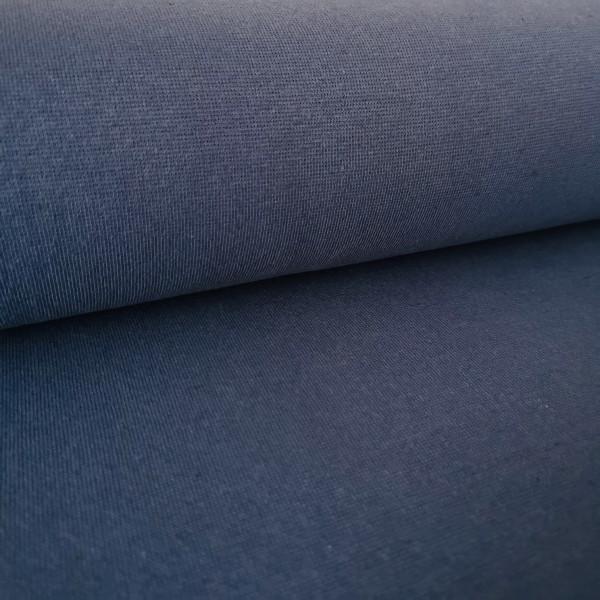 Bündchenstoff Feinstrick jeansblau