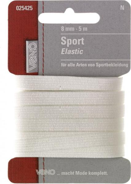 Sport-Elastic 8 mm weiß