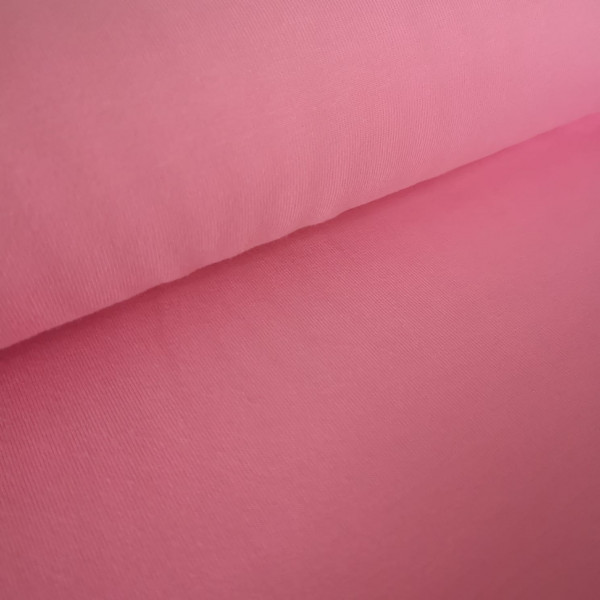 Baumwolljersey Uni rosa