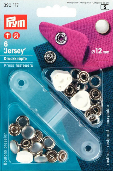 "Druckknöpfe ""Jersey"" Perlkappe 12 mm perlmuttfarbig"