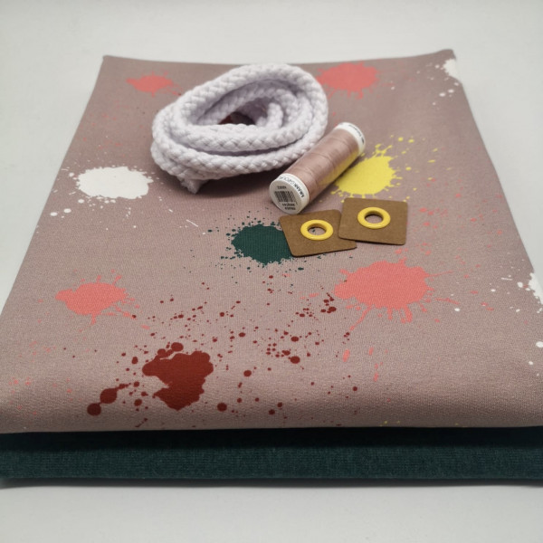 """Stoffpaket Kinder """"Farbkleckse"""": Pumphose, Gr. 98-164"""
