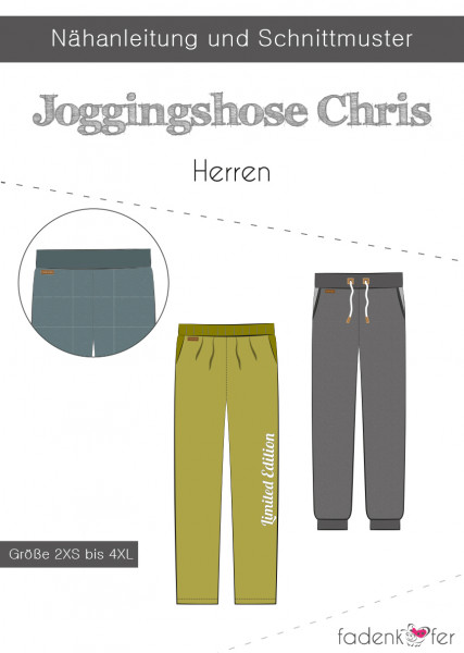 Schnittmuster Jogginghose Chris Herren 2XS - 4XL