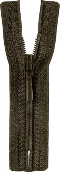 Reißverschluss Tropfenschieber 30-60 cm nicht teilbar olivgrün