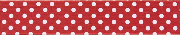 Gürtelgummi 40 mm gepunktet, rot