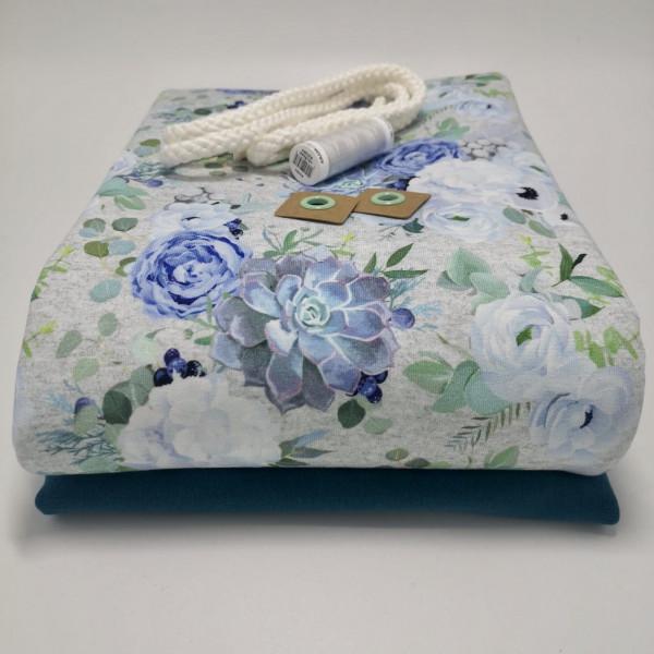 "Stoffpaket Damen ""floral"": Hoodiekleid, Gr. 32-38 (XXS-M)"