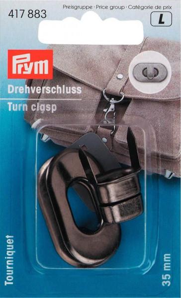 Drehverschluss für Taschen, Farbe: Altsilber