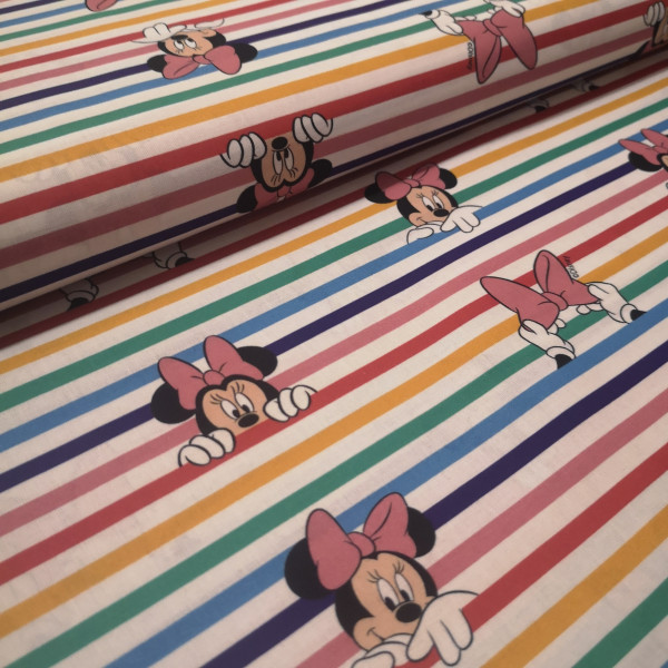 Baumwollstoff Minnie Mouse