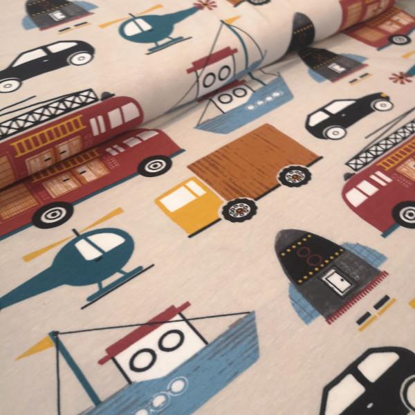 Baumwolljersey Fahrzeuge