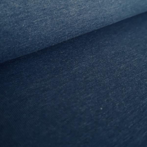 Baumwolljersey Uni jeansblau-meliert