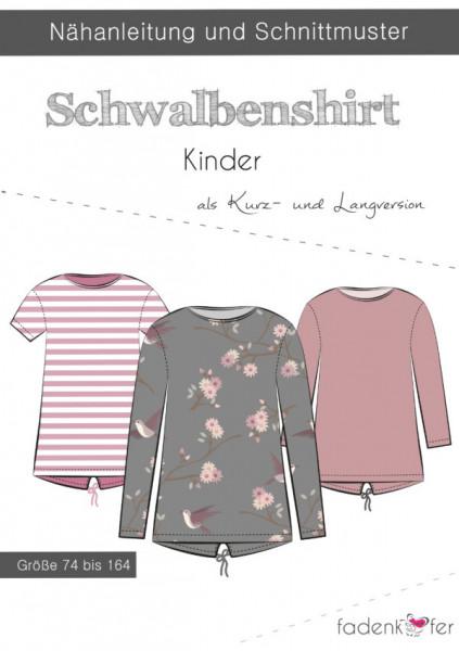 Schnittmuster Schwalbenshirt Kinder Gr. 74-164