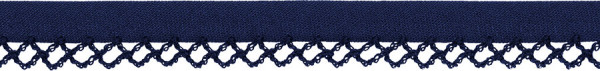 Schrägband Häkelkante 12 mm dunkelblau