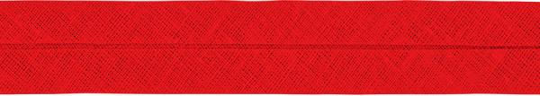Baumwoll-Schrägband gefalzt 40/20 rot