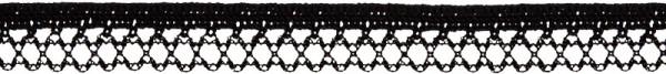 Zierlitze elastisch 12 mm schwarz