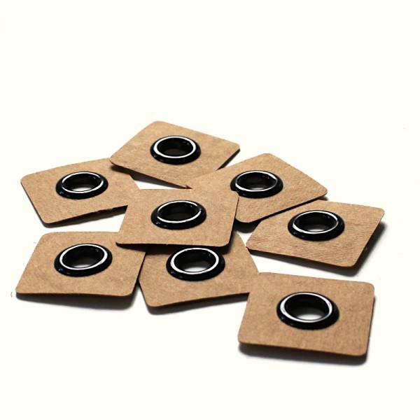 4 Aufnähösen SnapPap 8 mm schwarz