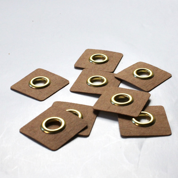 4 Aufnähösen SnapPap 8 mm gold