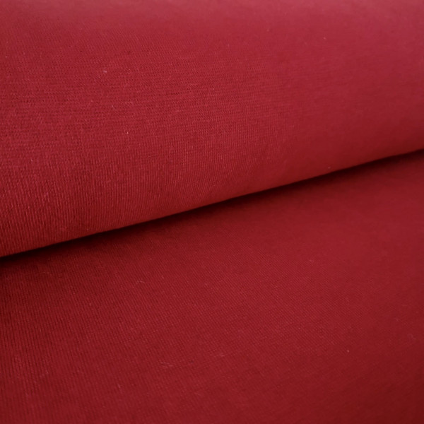 Bündchenstoff Feinstrick rot