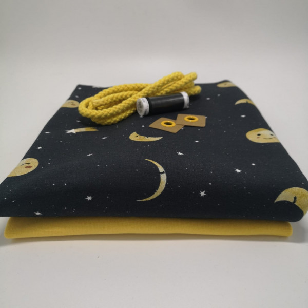 """Stoffpaket Kinder """"Mond"""": Hoodie, Gr. 116-152"""