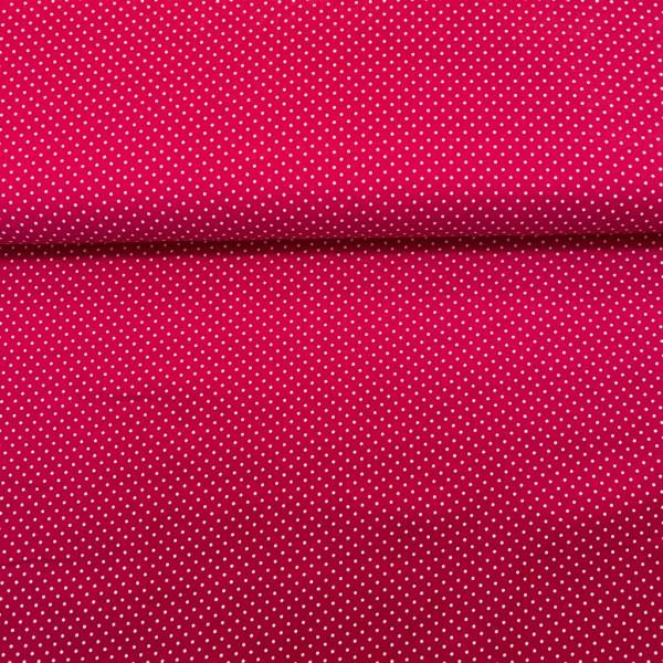 Baumwollstoff gepunktet pink
