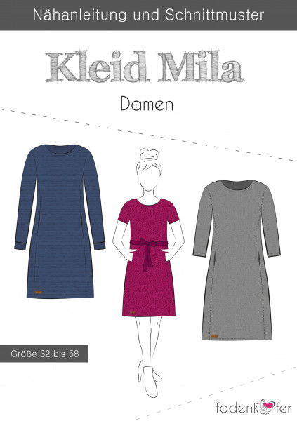 Schnittmuster Kleid Mila Damen Gr. 32-58