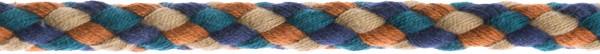 Flechtkordel 8 mm multicolor-camel