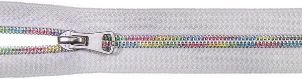 Spiralreißverschluss Multicolor inkl. Schieber hellgrau