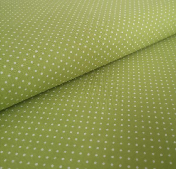 Baumwollstoff gepunktet hellgrün