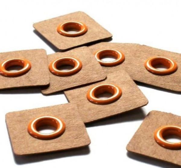 4 Aufnähösen SnapPap 8 mm orange