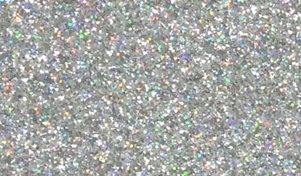 Glitzerstoff-Zuschnitt silber