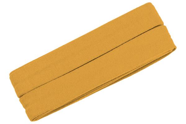 Jersey-Schrägband 20 mm senfgelb