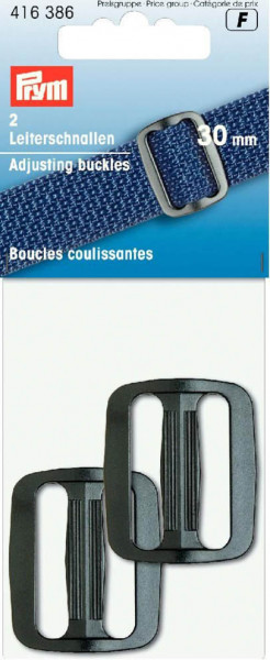 Leiterschnalle 30 mm schwarz