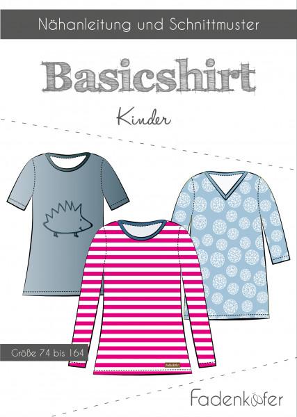 Schnittmuster Basicshirt Kinder Gr. 74-164