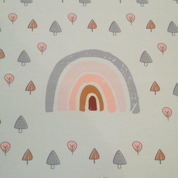 Baumwolljersey-Panel Regenbogen