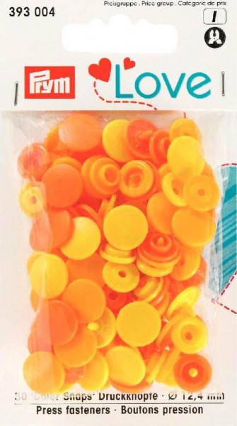 "Druckknöpfe ""Color Snaps"" 12,4 mm gelb/dunkelgelb/orange"