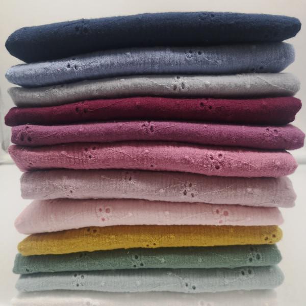Musselin Lochstickerei in 12 Farben