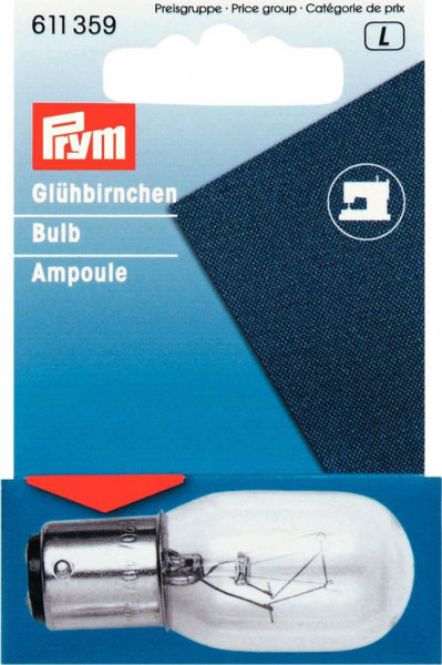 15W-Glühbirne für Nähmaschine, Bajonettfassung