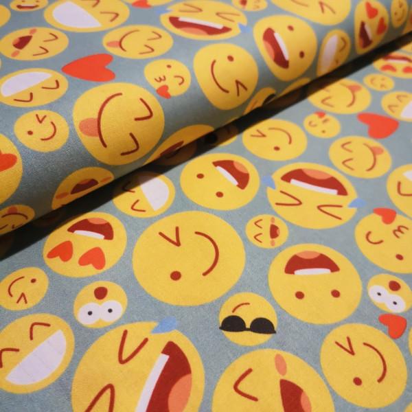 Baumwollstoff Emojis