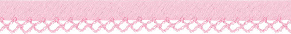Schrägband Häkelkante 12 mm rosa