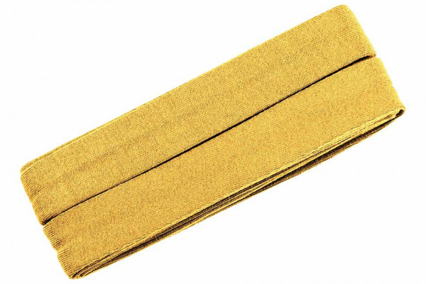 Jersey-Schrägband 20 mm gelb