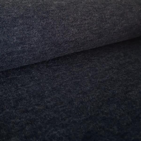 Strickjersey uni-meliert jeansblau