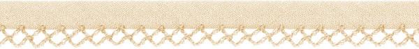 Schrägband Häkelkante 12 mm beige