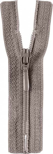 Reißverschluss Tropfenschieber 30-60 cm nicht teilbar grau