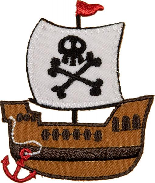 Applikation Piratenschiff weiß