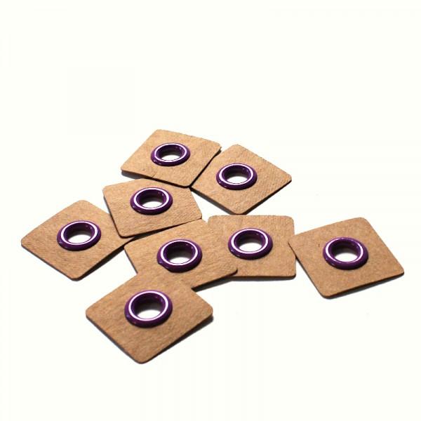 4 Aufnähösen SnapPap 8 mm violett