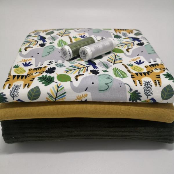 "Stoffpaket ""Dschungel"": Babyset, Gr. 50-98"